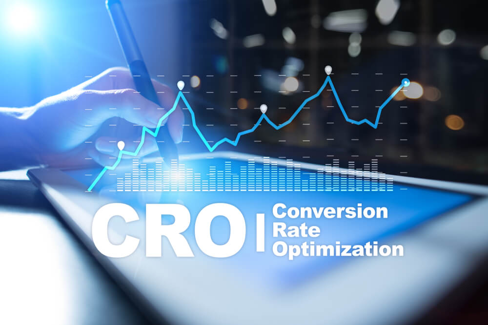 Conversion rate optimization graphic