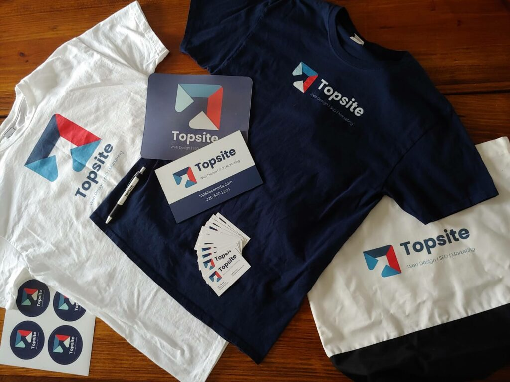 topsite new branding and swag